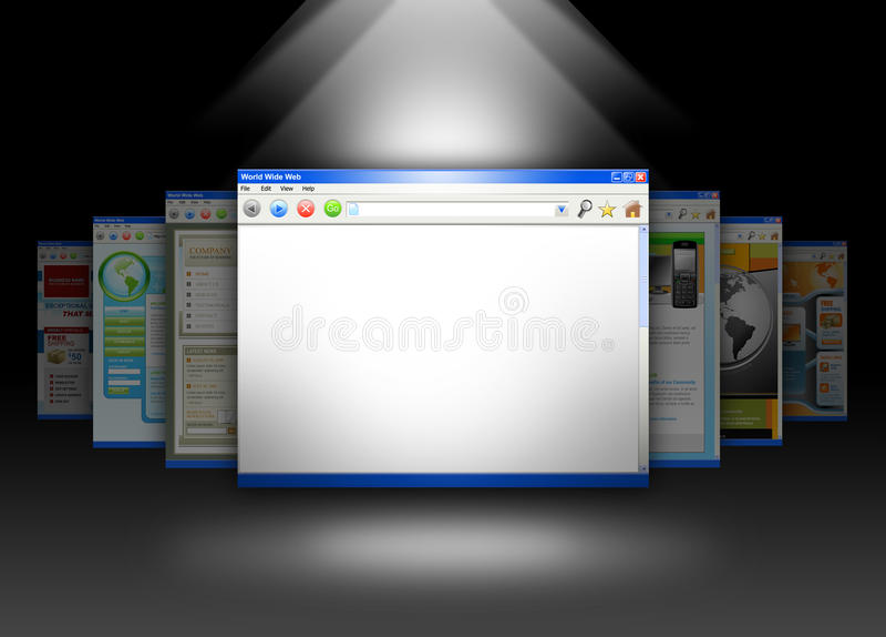 Paginación de la información del espacio en blanco del Web site del Internet ilustración del vector