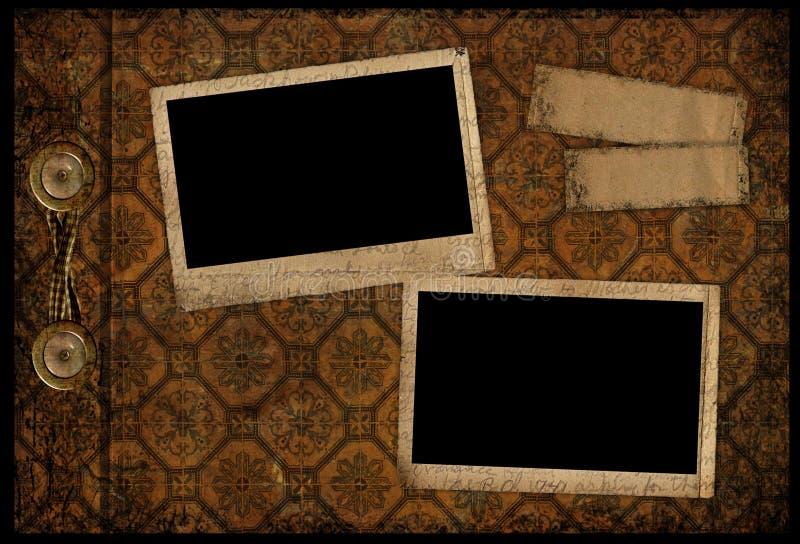 Paginación del álbum de la vendimia foto de archivo