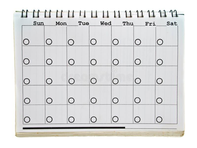 Paginación del calendario fotos de archivo libres de regalías