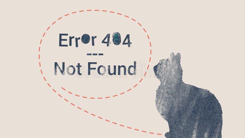 Paginación del error 404 no encontrada stock de ilustración