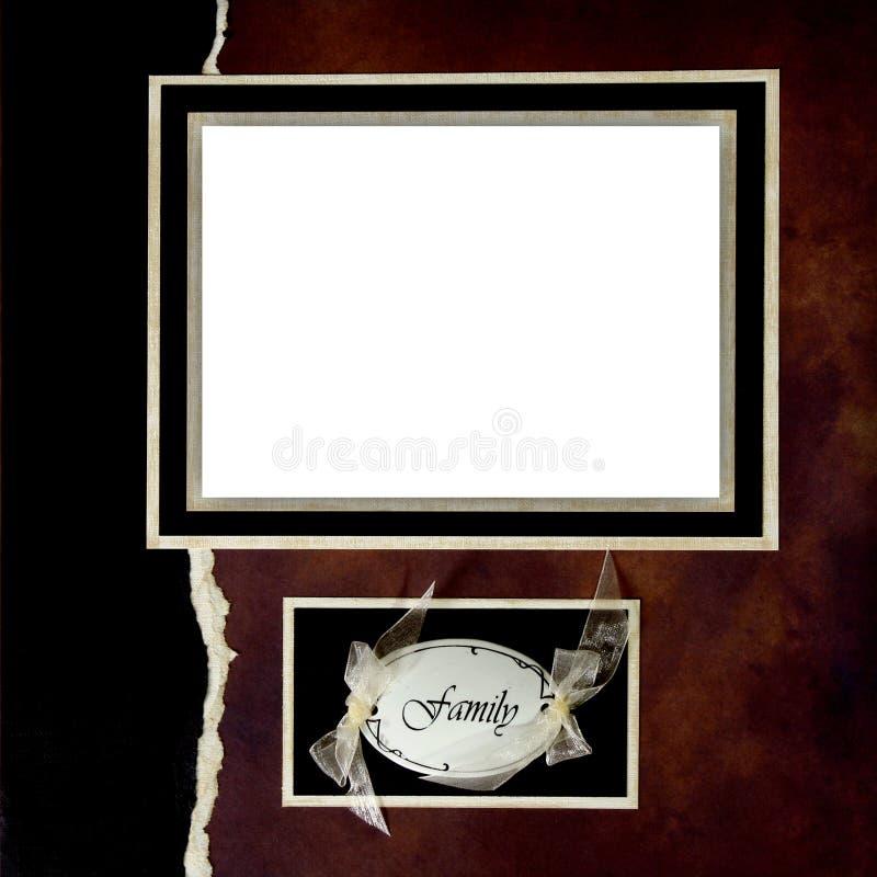 Paginación del libro de recuerdos de Digitaces de la familia imagen de archivo