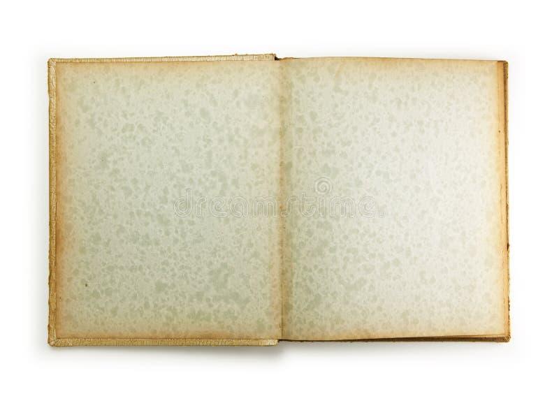 Paginación en blanco de un álbum de foto de los años 50. fotografía de archivo
