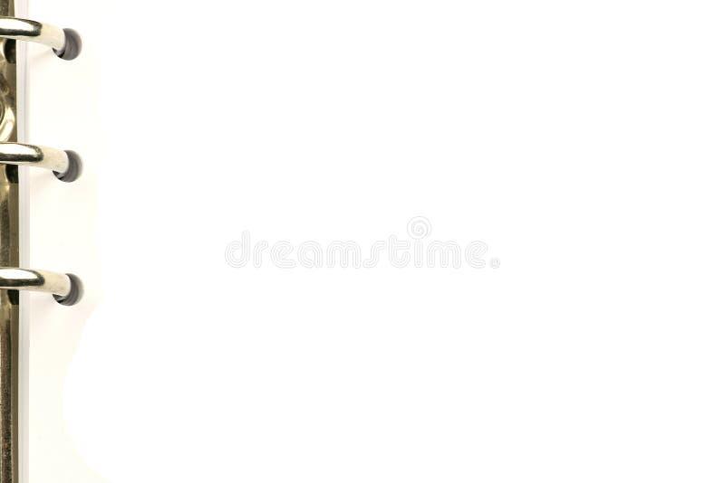 Paginación en blanco de una agenda imágenes de archivo libres de regalías