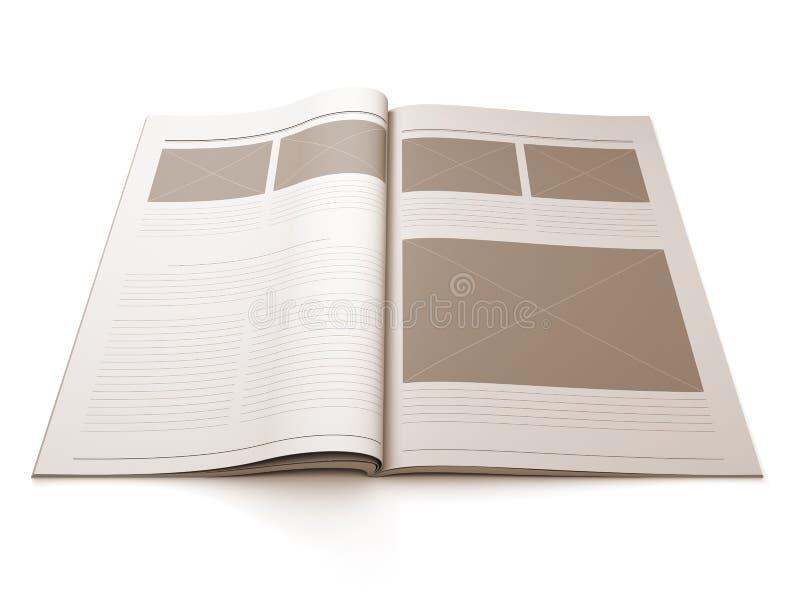 Paginación en blanco del compartimiento para la disposición de diseño stock de ilustración