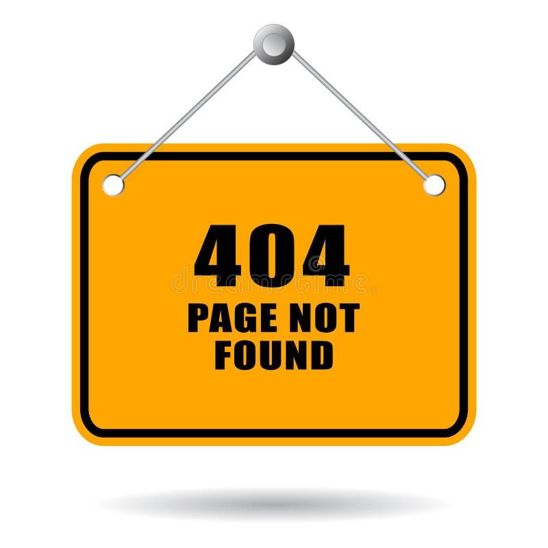Paginación 404 no encontrada ilustración del vector