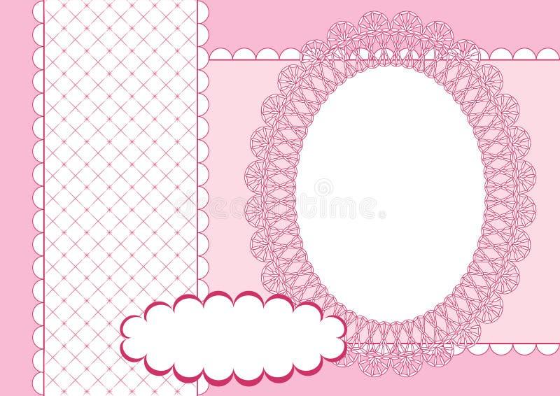 Paginación para el libro de recuerdos. Color de rosa. stock de ilustración