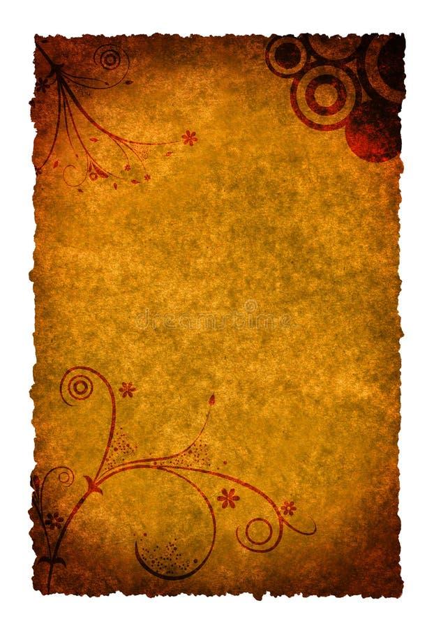 Paginación quemada ilustración del vector