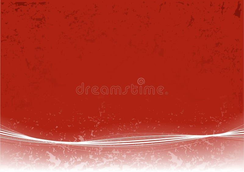 Paginación roja abstracta ilustración del vector