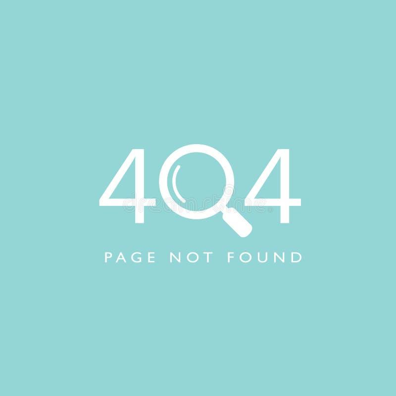 Paginaci?n 404 no encontrada ilustración del vector