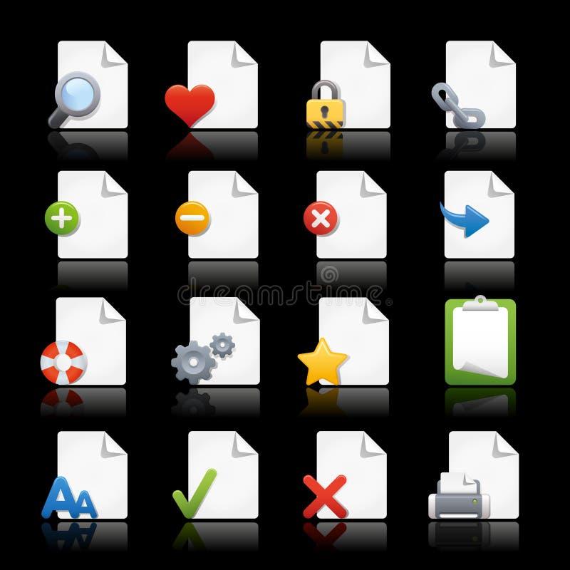 Paginaciones de // de los iconos del Web ilustración del vector