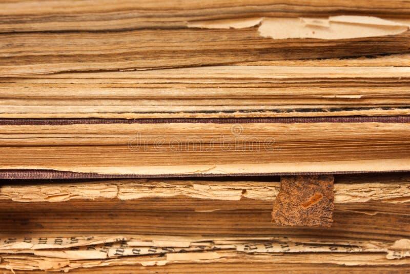 Paginaciones de papel de los libros viejos foto de archivo libre de regalías