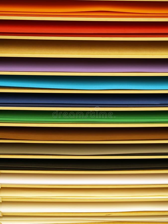 Paginaciones de papel del color fotografía de archivo