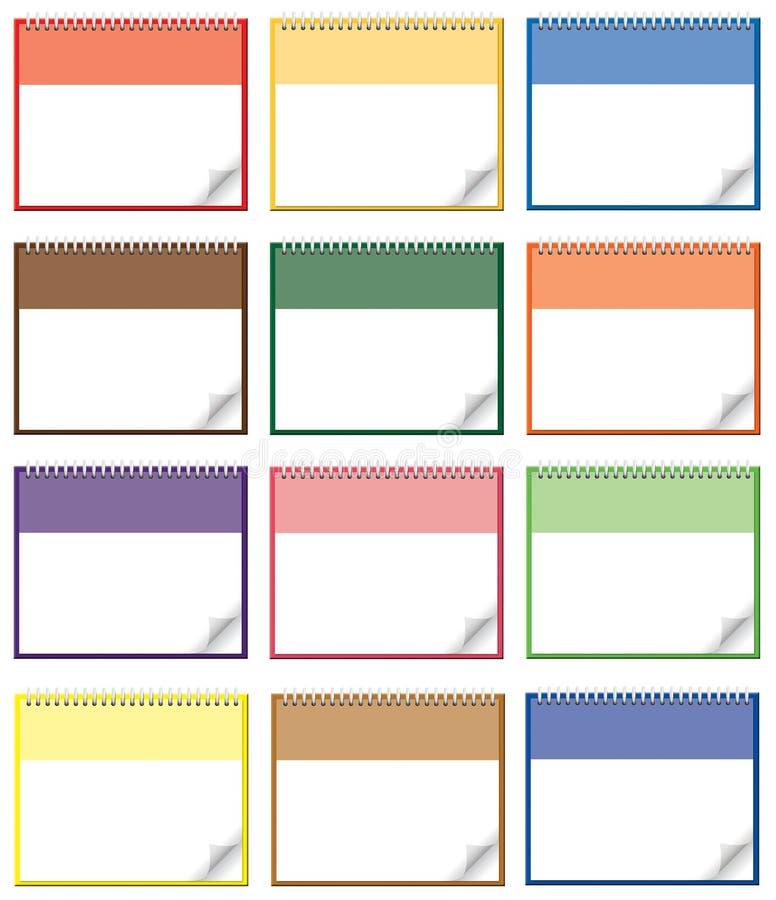 Paginaciones del calendario libre illustration