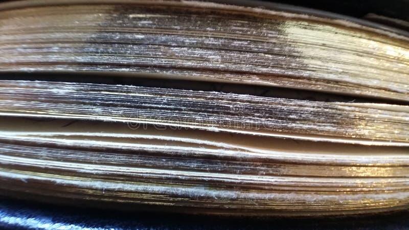 Paginaciones del libro viejo foto de archivo libre de regalías