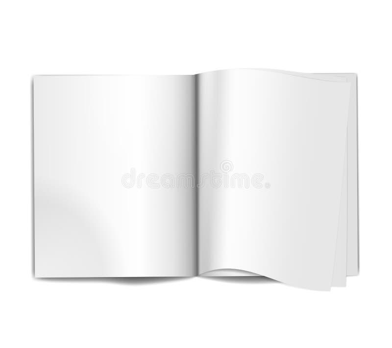Paginaciones en blanco de la revista stock de ilustración
