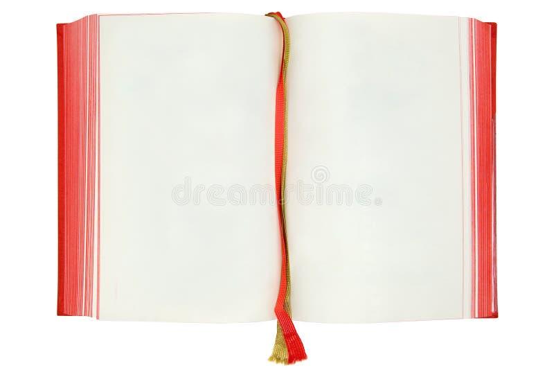 Paginaciones en blanco del libro foto de archivo