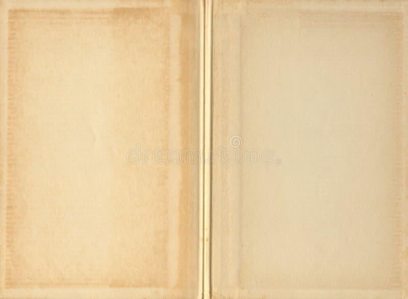 Paginaciones en blanco del libro de la vendimia fotografía de archivo libre de regalías
