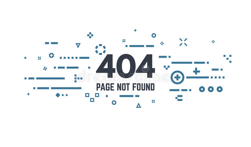 404 paginafout stock illustratie