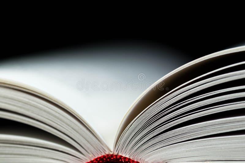 Pagine aperte del libro bianco vicino sul macro colpo immagine stock libera da diritti