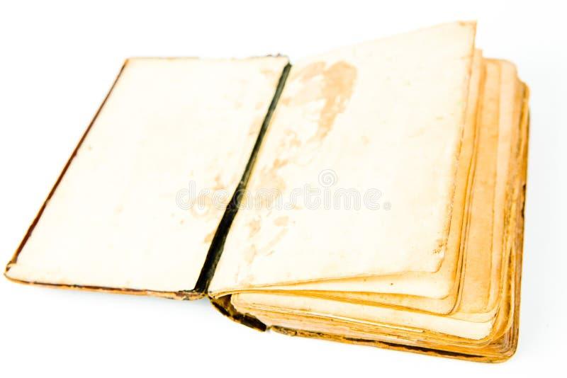 Pagine in bianco del libro d'annata aperto fotografia stock