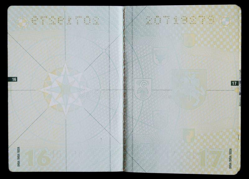 Pagine in bianco del passaporto fotografia stock libera da diritti
