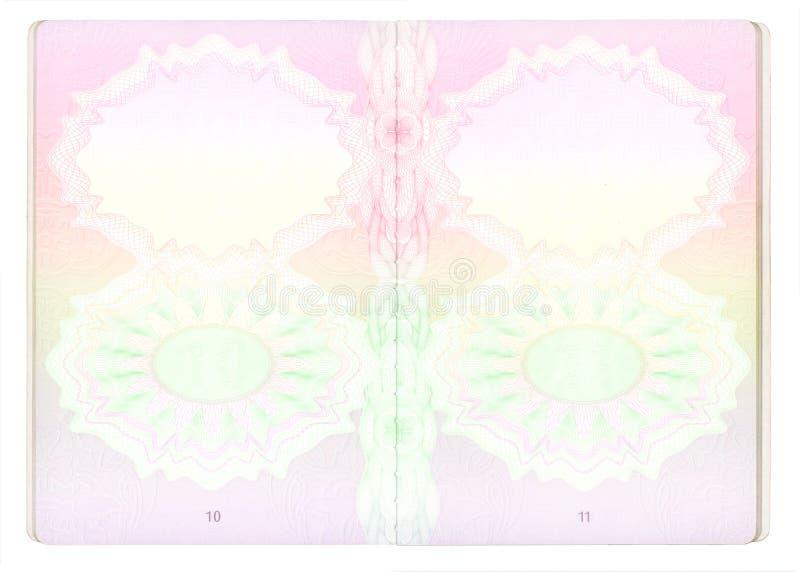 Pagine in bianco del passaporto illustrazione di stock