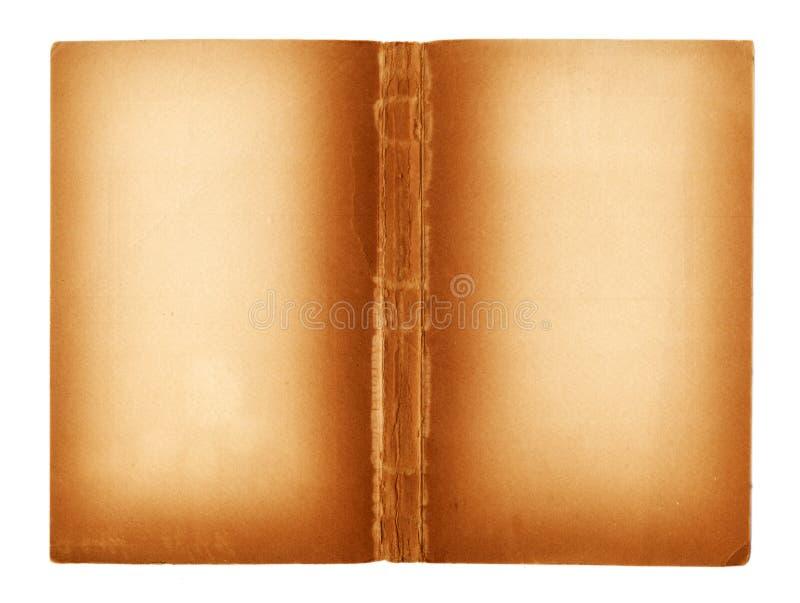 Pagine in bianco di un libro antico immagini stock