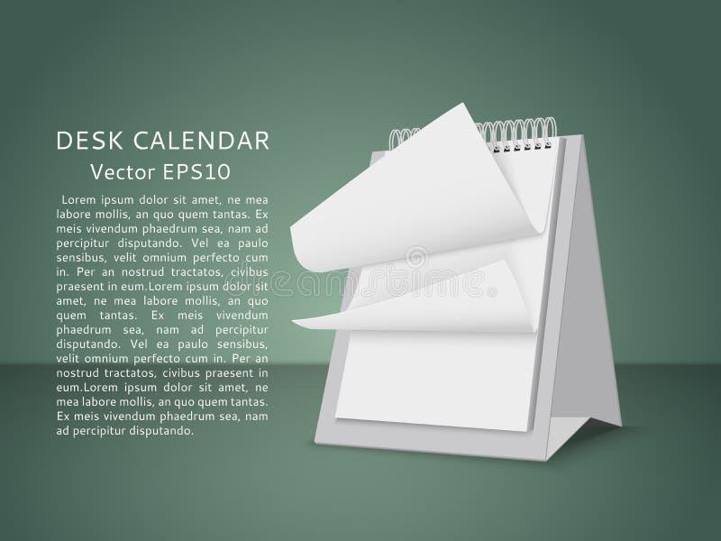 Pagine in bianco volanti del calendario della tavola illustrazione di stock