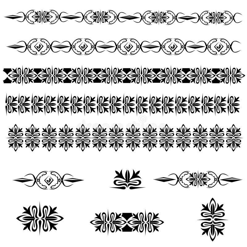 Pagine d'annata della decorazione illustrazione vettoriale