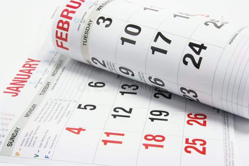 Pagine del calendario immagini stock libere da diritti