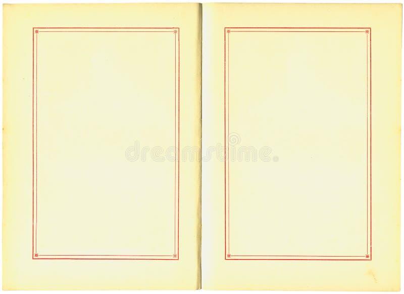 Pagine del libro dell'oggetto d'antiquariato illustrazione di stock