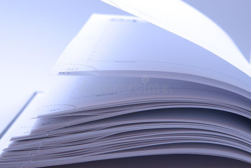 Pagine del taccuino immagini stock
