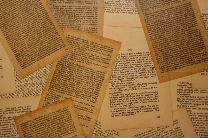 Pagine del vecchio libro fotografia stock libera da diritti