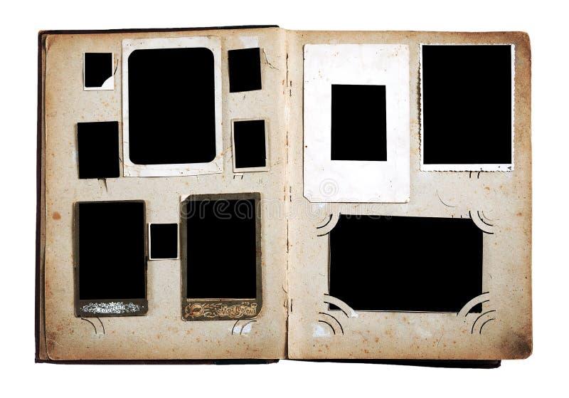 Pagine dell'album di foto dell'annata fotografia stock