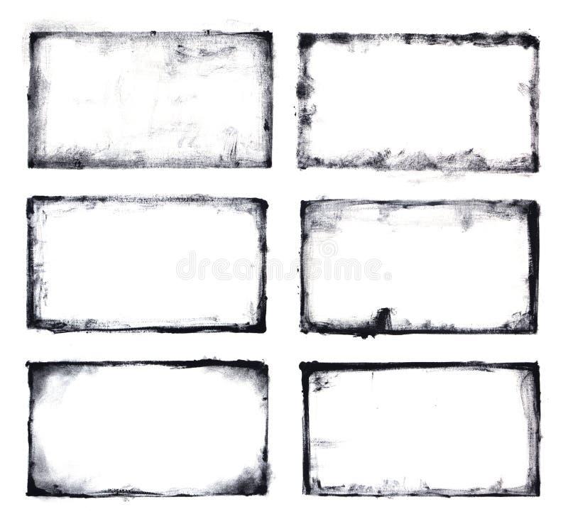 Pagine di lerciume messe illustrazione di stock