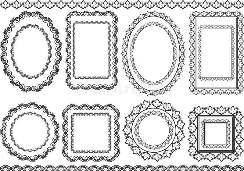 Pagine e confini illustrazione di stock