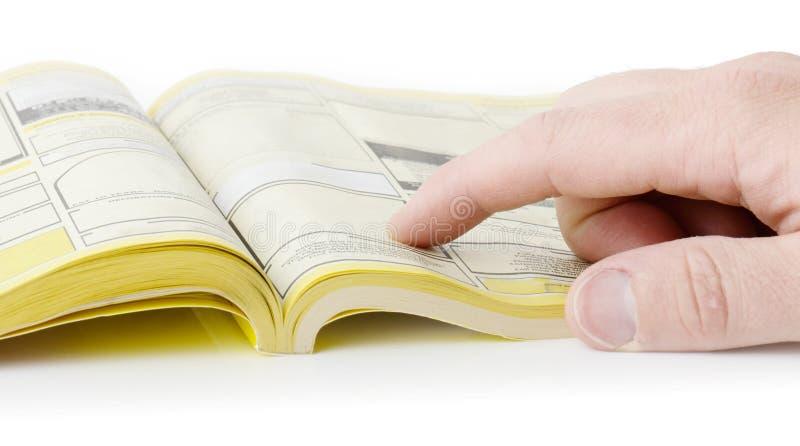 Pagine gialle immagine stock libera da diritti