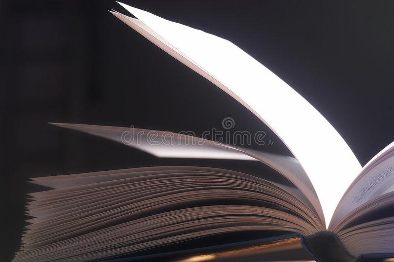 pagine lanciate - Aufgeschlagene Seiten fotografie stock libere da diritti