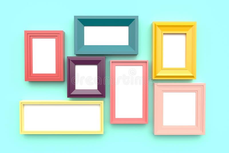 Pagine per le immagini o foto sulla parete rappresentazione 3d fotografie stock
