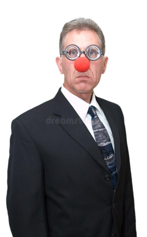 Pagliaccio di affari - uomo d'affari divertente immagini stock libere da diritti