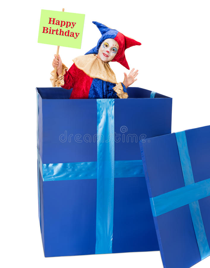 Pagliaccio di buon compleanno fotografia stock