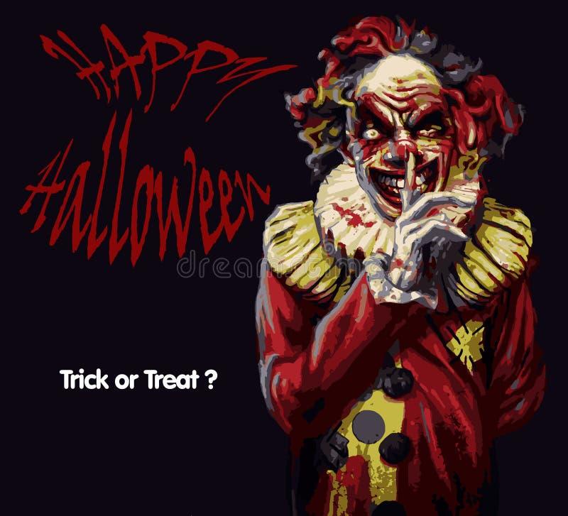 Pagliaccio di Halloween illustrazione di stock