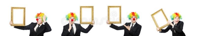 Pagliaccio isolato sui precedenti bianchi fotografie stock