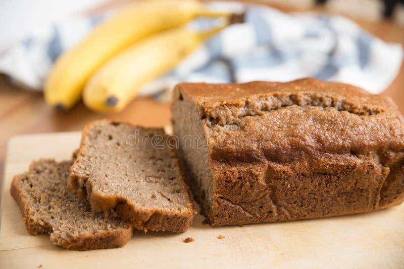 Pagnotta del pane di banana fotografia stock libera da diritti