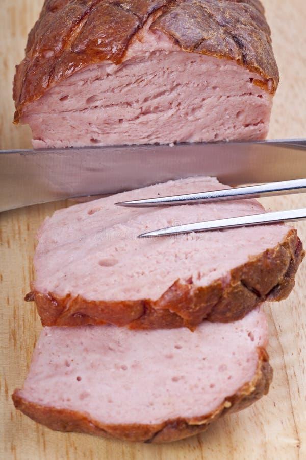 Pagnotta di carne bavarese cotta fotografia stock libera da diritti