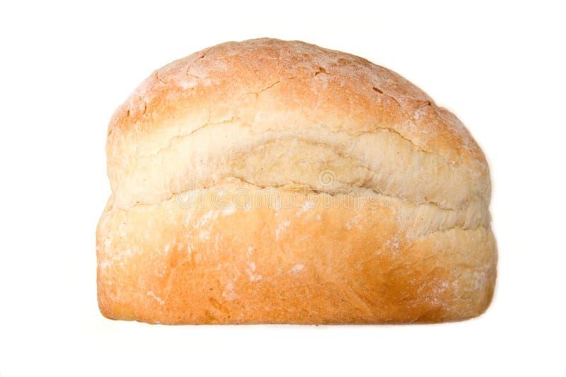 Pagnotta di pane bianca isolata su bianco. fotografia stock