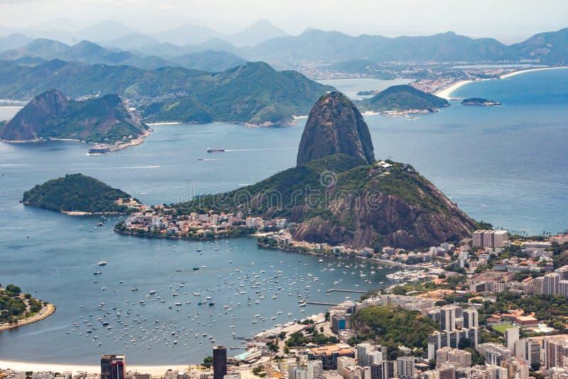 Pagnotta di zucchero in Rio de Janeiro fotografia stock libera da diritti