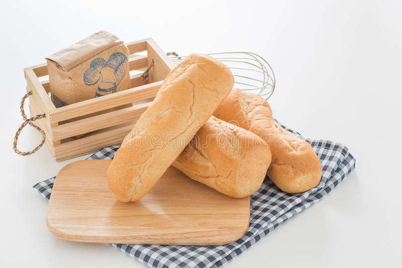 Pagnotta dorata di Brown del pane francese delle baguette immagine stock libera da diritti