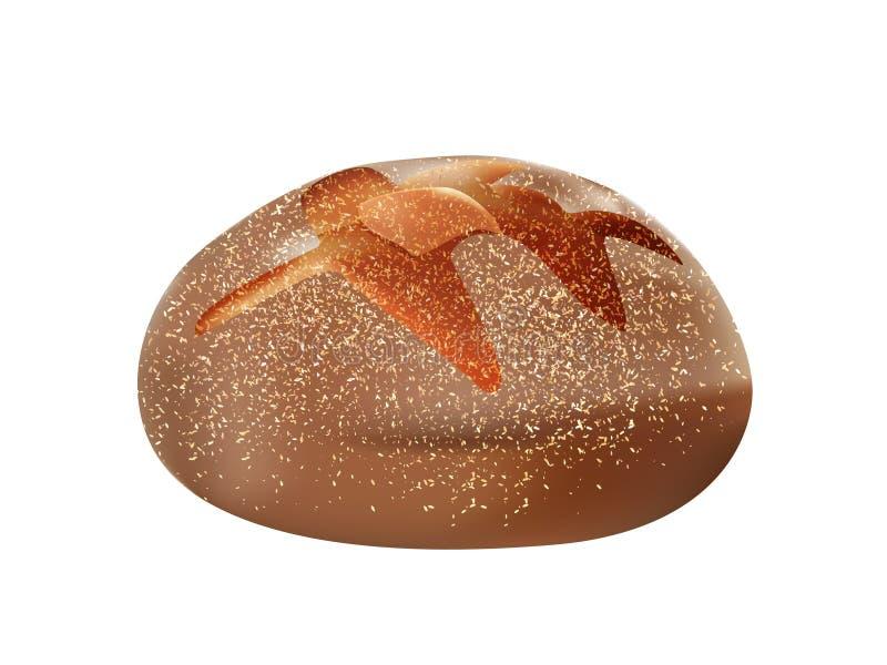 pagnotta integrale del pane integrale 3d isolata royalty illustrazione gratis
