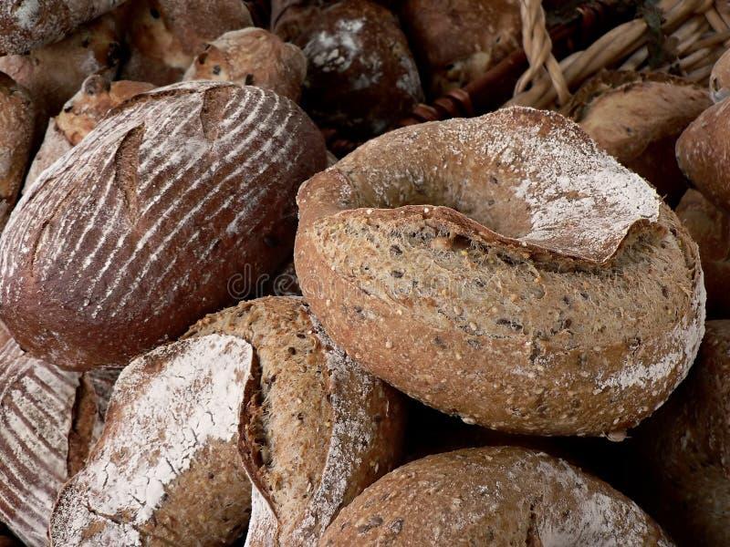 Pagnotte di pane ad un servizio dei coltivatori fotografie stock libere da diritti